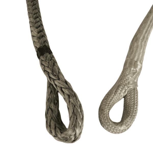 dineema, dog bone, soft locks, loops, shackels